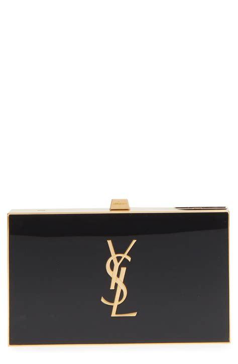 monogram tuxedo box clutch ysl yvessaintlaurent saintlaurent   tuxedo designer