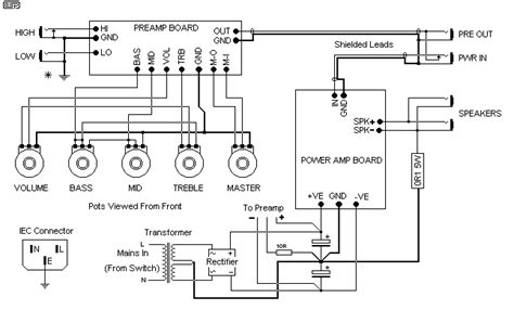Guitar Amplifier Audio Circuits Elshem