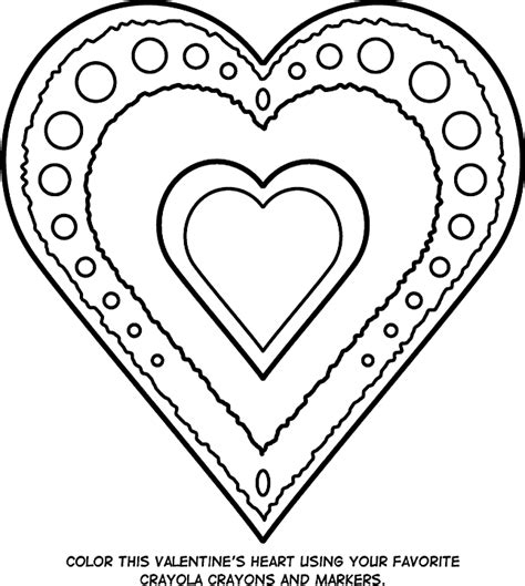 valentines heart coloring page crayolacom