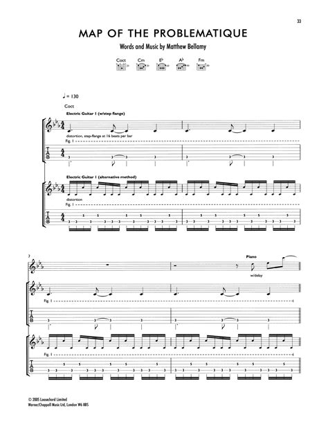 map   problematique  muse guitar tab guitar