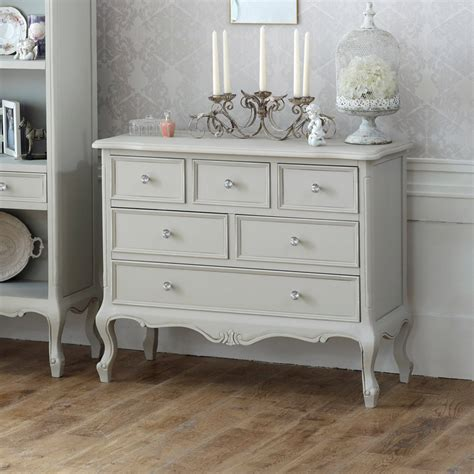shabby chic bedroom drawers ornate 6 drawer chest bedroom storage distressed shabby chic grey home farmhouse ebay
