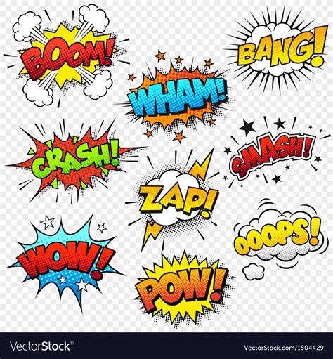 comic sound effects royalty  vector image vectorstock