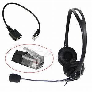 Headset Cable 2 X 3 5mm To Rj9 Jack Adapter Convertor Pc Telephone Using New