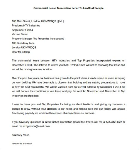 early lease termination letter lease termination letter templates 23 free sle