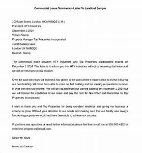 lease termination letter templates 23 free sample With sample letter to terminate commercial lease agreement