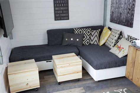 tiny house sofa white cushions for tiny house storage 2843