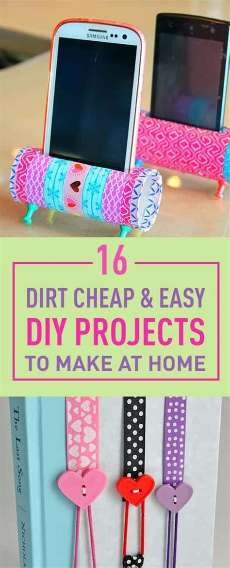 dirt cheap easy diy projects    home