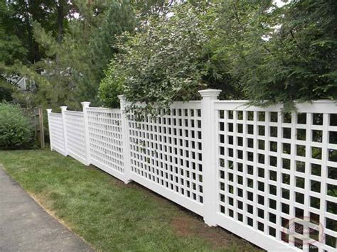 white vinyl fence panel kit design ideas