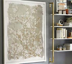 beige dogwood framed canvas art With what kind of paint to use on kitchen cabinets for large floral canvas wall art