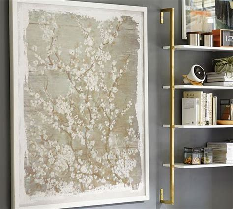 Beige Dogwood Framed Canvas Art