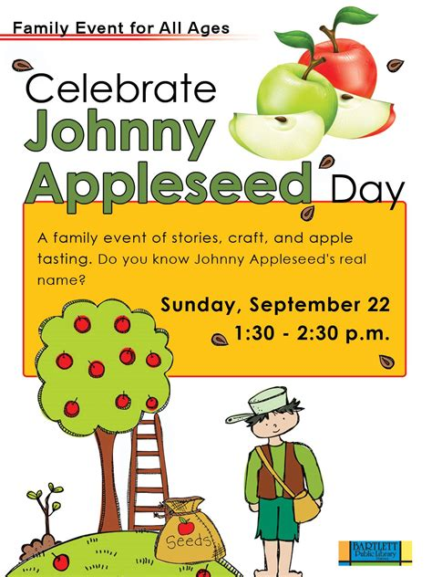 We've got family fun planned for Johnny Appleseed Day ...