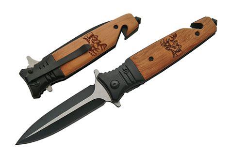 couteau pliant cerf 20 5cm bois et m 233 tal de259 couteau