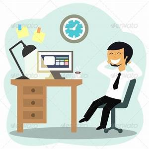 Happy Office Worker | GraphicRiver