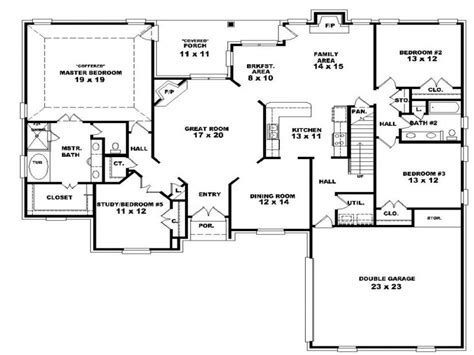 4 Bedroom 2 Story House Plans 3 Bedroom 2 Story House, One