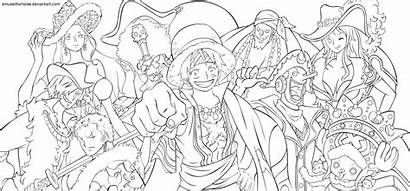 Coloring Piece Pages Luffy Anime Manga Books