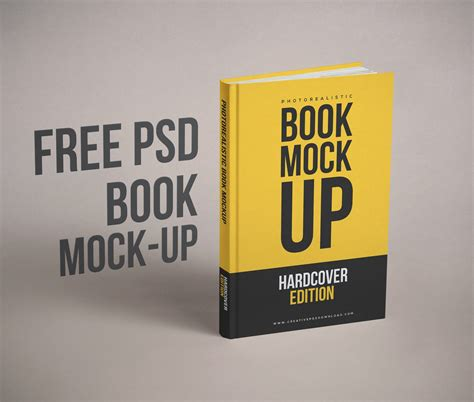 Exclusive and free mockups for your presentations and ui tools. Realistic Book Cover Free PSD Mockup
