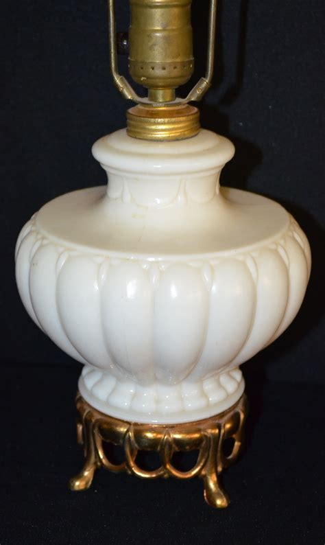 pair of antique aladdin electric ls model g212 with illum