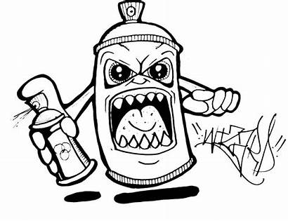 Graffiti Coloring Pages Easy Spray Paint Drawing