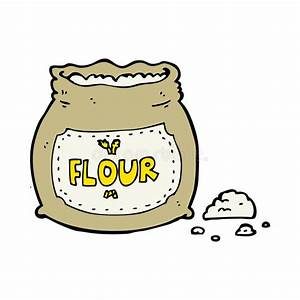 Cartoon bag of flour stock vector. Illustration of design ...