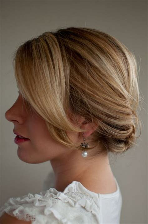 smooth simple flattering updo hairstyle  long hair