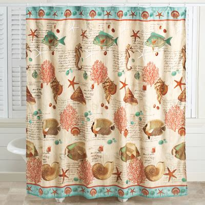 collection shower curtains coastal seaside vintage shower curtain from collections etc Coastal