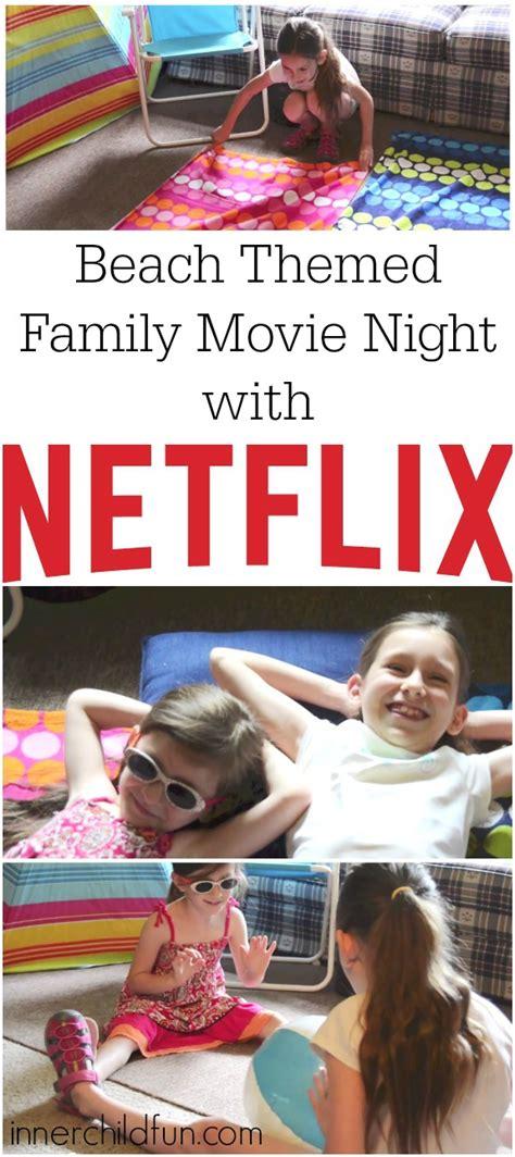 family  night beach theme  child fun