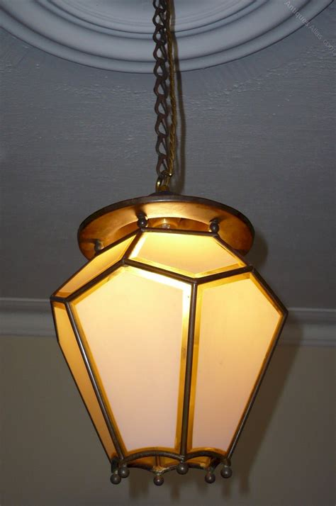 antiques atlas arts and crafts copper ceiling light
