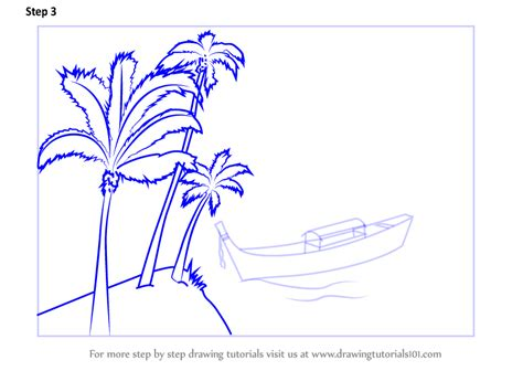 Boat On Beach Drawing by Learn How To Draw Boat On The Beach Scene Landscapes