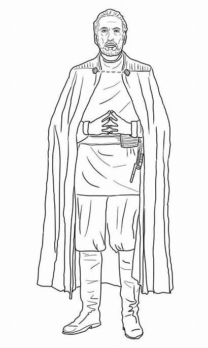 Dooku Count Wars Coloring Sith Coloriage Colorare