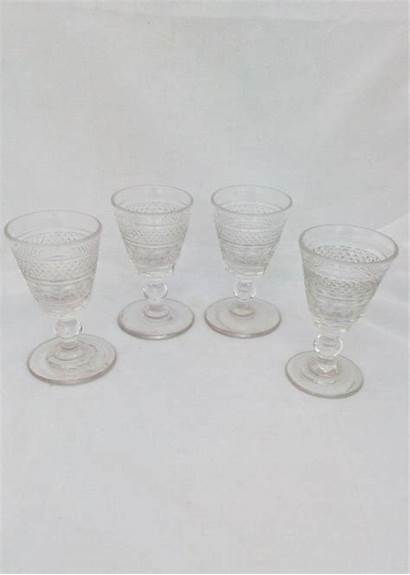 Wine Port Glasses Glass Bucket Antique Georgian