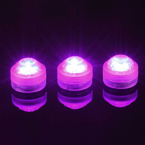 10pcs lot super bright 3led submersible waterproof mini led tea light candle lights for wedding