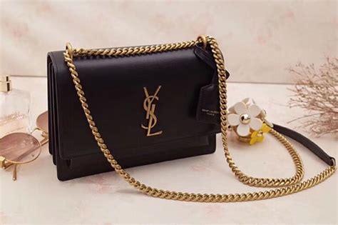 ysl saint laurent medium sunset monogram bag  black gold hardware unrbru replica