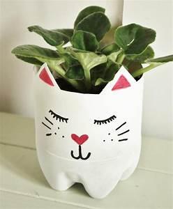 Pot Pour Plante : cache pot diy pour les amoureux des chats bricolage pinterest le cache plante interieur ~ Teatrodelosmanantiales.com Idées de Décoration