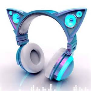 cat headphones cat ear shaped headphones glow in bright led lights mind