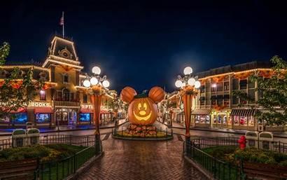 Disneyland Halloween Usa Anaheim Pumpkin Hdr Street