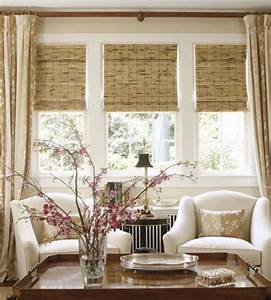 5 bay window treatment tips With curtains that look like roman shades