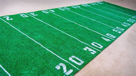 football field rug how to make a football field rug diy