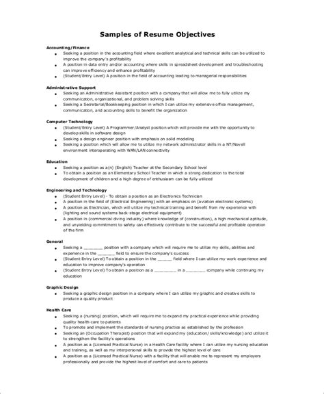 Now, let us have a look at general career objectives. FREE 13+ Sample Accounting Resume Templates in MS Word   PDF