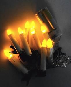 Led Lichterkette Mit Zeitschaltuhr Batteriebetrieb : led lichterkette 10 kerzen mit klemmvorrichtung baumbeleuchtung batteriebetrieb led deko ~ Buech-reservation.com Haus und Dekorationen