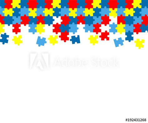 colorful autism awareness puzzle background buy