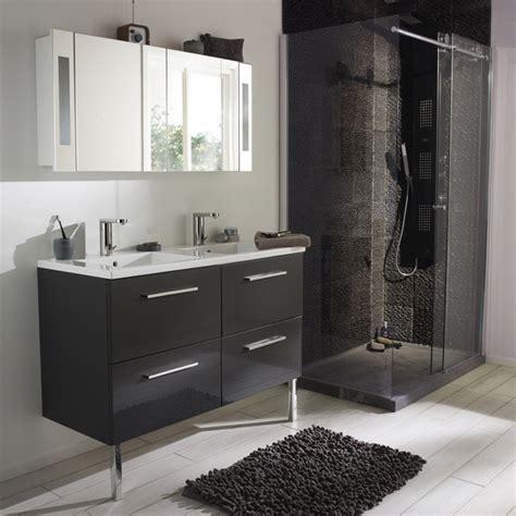 salle de bain soldes castorama meuble de salle de bain noir de chez castorama photo 4 20 gamme seton finition laqu 233 e