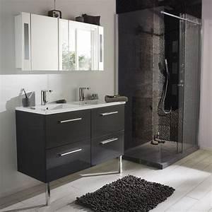 meuble de salle de bain noir de chez castorama photo 4 20 With salle de bain design avec ensemble salle de bain castorama