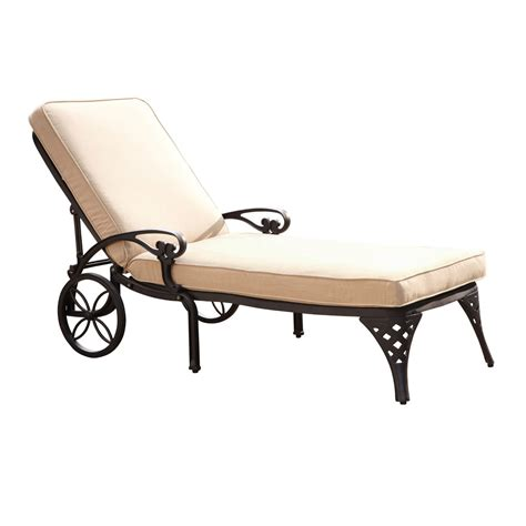 chaises taupe biscayne black chaise lounge chair with taupe cushion home styles furniture chaises