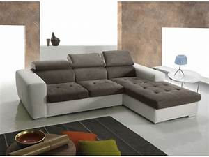 soldes canape conforama achat canape d39angle droit 5 With canapé d angle blanc et taupe