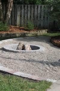Pea-Gravel Fire Pit