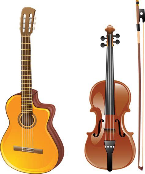 gitar mainan gambar vektor gratis gitar biola busur alat musik