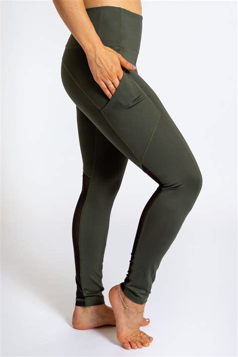 pocket legging forest green inner apparel