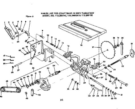 craftsman 10 table saw parts 301 moved permanently