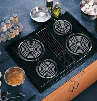 ge jpbjbb   electric modular downdraft cooktop   speed downdraft ventilation
