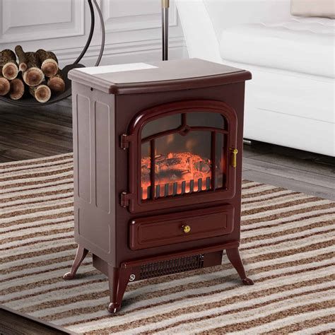 16 1500w free standing electric fireplace wood burning